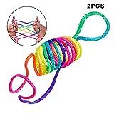 RecoverLOVE Kinder Regenbogen Finger Seil Set Finger String farbigen Faden Spielzeug Seil Finger String Spiel Super String Sache Set erstellt Verschiedene Muster Finger Spiel String...