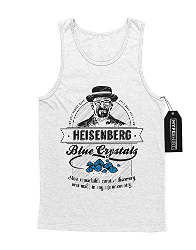 Tank-Top Breaking Bad Heisenberg Blue Crystals C112260 Weiß (Walt Und Kostüm Jesse)
