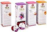 Teekanne Tealounge Kapseln - Früchtetee Sortiment mit 4 Sorten (32 Kapseln)