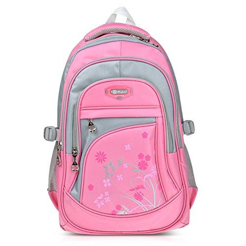 Imagen de vbiger niños  bolsa viaje  escuela con correas ajustables rosado