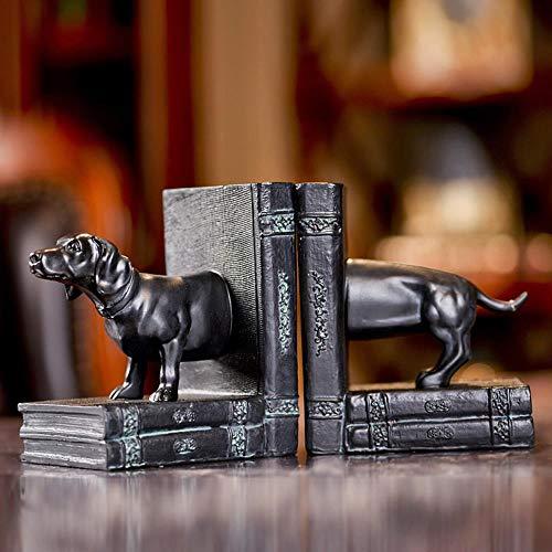 Leoflute Harz Handwerk Antike Haustier Hund Buch Stände Dekoration Zuhause Wohnzimmer Weinschrank Partition Display (Antik-hund-bücher)
