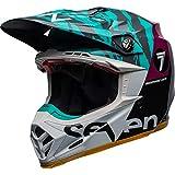 Bell Helm Moto-9 Flex Black/Aqua Seven Zone, Größe M
