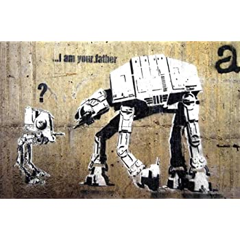 Banksy I Am Your Father 16 x 20 poster