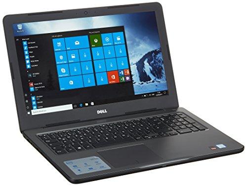 Dell 5567-1530 39,62 cm (15,6 Zoll Full HD) Inspiron 15 5000 Laptop (Intel Core i5-7200U, 8 GB RAM, 256 GB SSD, AMD Radeon R7 M445, Win 10 Home) schwarz/grau (Dell-laptop-amd)