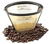 ZIP Premium Goldfilter Dauerfilter permanenter Kaffeefilter 1x4, Filtergröße 4, wiederverwendbar - für vollen Kaffeegeschmack - 23 Karat Goldbeschichtung