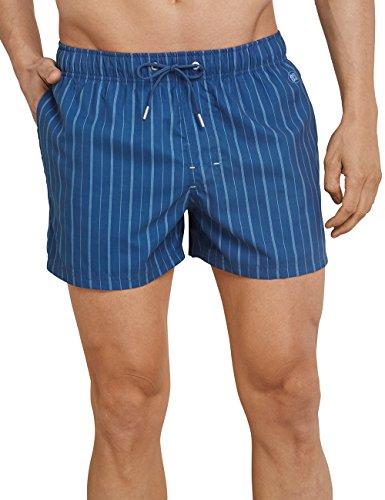 Schiesser Swimshorts, Bañador para Hombre, Blau (Indigo 824), XXXXX-Large