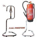 Feuerlöscher-Ständer für 6/9/12 kg Geräte verchromt rund gebogen von ISB Firestore