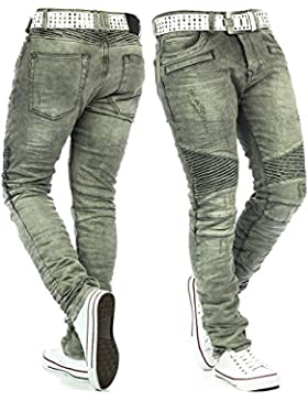 RedBridge Herren Jeans Freizeitjeans Freizeithose Denim Hose Slim Fit Clubwear Streetwear Swag Dope