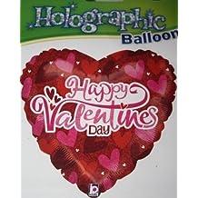 (715) 45.7cm corazones en una corazón globo metalizado de helio HAPPY VALENTINES DAY regalo ideal