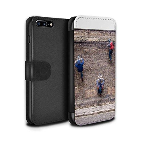 STUFF4 PU-Leder Hülle/Case/Tasche/Cover für Apple iPhone 8 Plus / Ersten Gang Muster / Vorstellen Kollektion (Firstgear Leder)