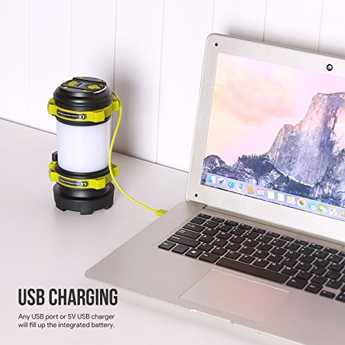 515ubqrZFxL. SS500  - LE Rechargeable CREE LED Torch, 500 Lumen Camping Lantern, Water Resistant Outdoor Searchlight for Emergency, Fishing, Hiking, Power Cuts and More