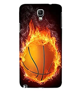 ColourCraft Flaming BasketBall Design Back Case Cover for SAMSUNG GALAXY NOTE 3 NEO N7505