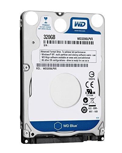 WD Blue 320 GB interne mobile Festplatte (6,4 cm (2,5 Zoll), 5400rpm, 8MB Cache, SATA) WD3200LPVX bulk (8mb Notebook-festplatte 5400rpm)