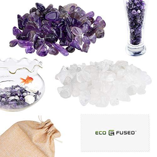 ECO-FUSED Piedras Cristal Pulidas Amatista Cuarzo