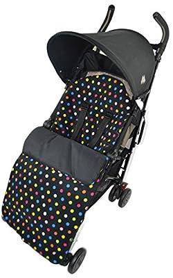 Forro polar saco/Cosy Toes Compatible con Graco Stadium Duo Quattro Evo mosaico Multi Color Dots