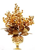 #10: Home decor artificial flowers with pot best quality realistic natural look faux flower arrangement for home decoration and gifts
