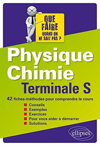 Physique Chimie Terminale S 42 Fiches-Méthodes pour Comprendre le Cours by Pascal Delacour (2016-06-21)