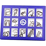 Giocattolo Intellettuale-CHshe 15 Set  Fibbia Dell'Intelligenza  Nove Collegamenti  Sblocco E Sblocco  Per I Giocattoli Di Intelligenza Per Adulti E Bambini  Porpora 