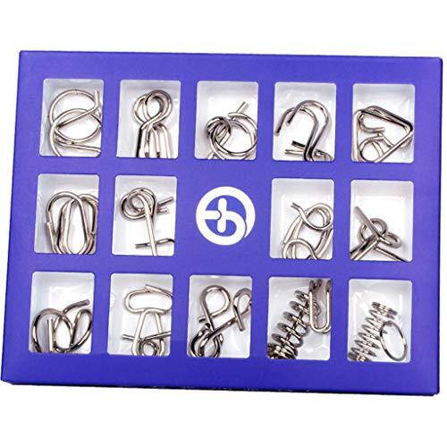 Giocattolo Intellettuale-CHshe 15 Set| Fibbia Dell'Intelligenza| Nove Collegamenti| Sblocco E Sblocco| Per I Giocattoli Di Intelligenza Per Adulti E Bambini |Porpora|