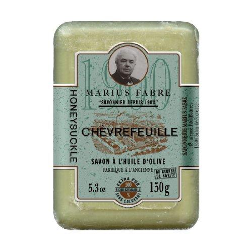 Marius Fabre Savon de Marseille Chèvrefeuille - GEISSBLATT-Seife mit Sheabutter - REIN PFLANZLICH - 150 g -