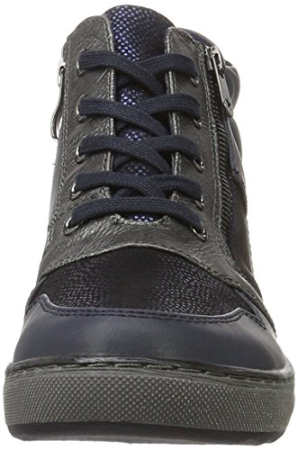 Marco Tozzi Cool Club 45200, Sneakers Hautes Fille Bleu (NAVY ANTIC COM 820)