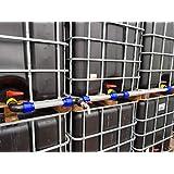 """Voxtrade IBC verbindingsset voor 2-4 watertanks 40 mm voor extra grote uitloop 40 mm Rohr 1"""" Auslaufhahn"""