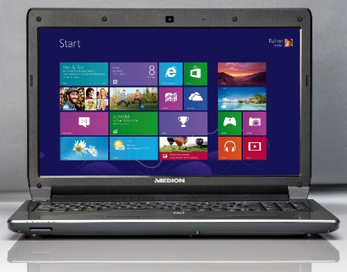 Medion P6638 Akoya 39,6 cm (15,6 Zoll) Notebook (Intel Core i3-3120M, 2,5GHz, 4GB RAM, 1TB HDD, NVIDIA GT635M, Win 8) schwarz
