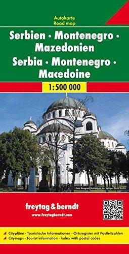 Serbia Montenegro Macedonia: 1:500 000 (Auto karte) por Freytag & Berndt