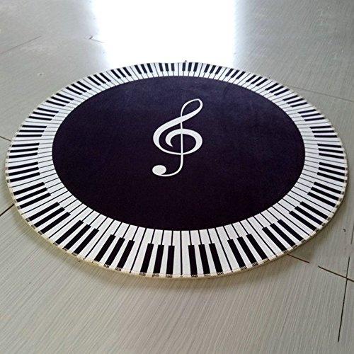 XIA Tapis de musique de tapis tapis rond rond résistant à l'usure (Couleur : A, taille : Diameter 160cm)