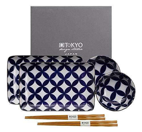 Tokyo Design Studio, Sushi Set, Nippon Blue Series, 6-teilig, Japan Design Sushi-set