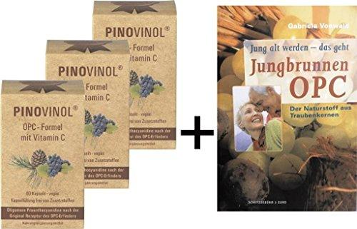 3x Pinovinol - OPC Formel mit Vitamin C aus Acerola, 60 Kapseln + GRATIS OPC Broschüre -