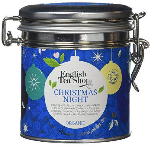 English Tea Shop Organic Christmas Night - 100g Loose leaf Tea in Round Clip Lid Tin