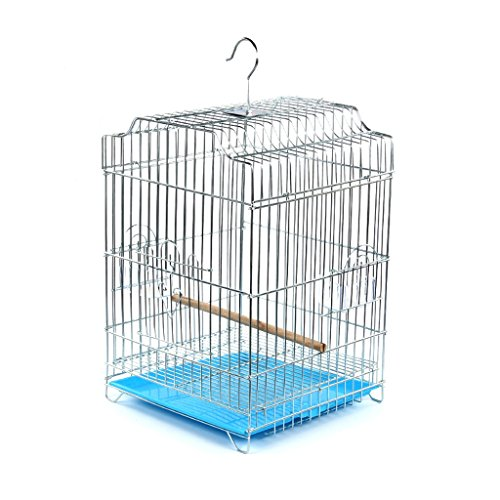 Liuyu · Lebenshaus Vogelkäfig Extra Large Plating Edelstahl Große Skala Eisen Art Papagei 34 * 34 * 52 cm ( Farbe : Blau , größe : A )