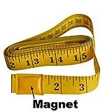 Ehdis 120 Inch 3 Meter Weiches Bandmaß mit magnetischer Spitze, Flexible magnetische Maßband für Auto-Vinylverpackungs-Mess Tailor Nähen