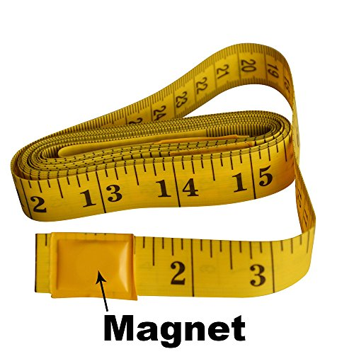 Ehdis® 120 pollici di 3 metri morbida Tape Measure con punta magnetica, flessibile misura di nastro magnetico per auto Vinyl Wrap misura cucito su misura