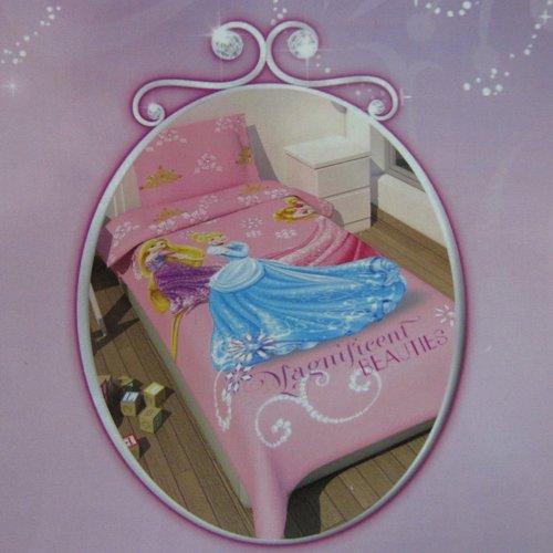 Completo lenzuola Disney Rapunzel Principesse una piazza 100 cot rosa H697