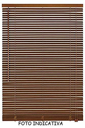 Vetrineinrete tende veneziane in pvc veneziana finestra tenda ripara dal sole marrone beige chiaro scuro effetto legno arredare casa (marrone, 80 x 160) c8