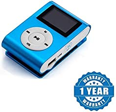 captcha Mini Digital MP3 Player with HD LED Torch Functionality for All Smartphones (Colour May Vary, Blue_MiniDigital_MP3)