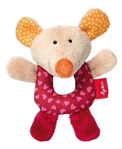 sigikid, Mädchen und Jungen, Mini-Greifling Maus, Red Stars, Rot, 41761