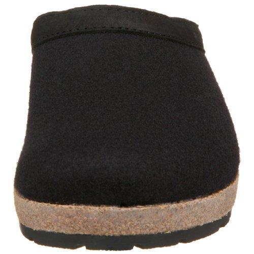 Haflinger 713001 Hausschuhe, Filztoffel Grizzly Torben, schwarz Schwarz