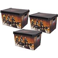 Marvel Vengadores apilables Cajas de almacenaje para juguetes Juegos Ropa residuos papel cubo de basura representa varios personajes de los Vengadores incluido el Hulk Iron Man Thor Capitán América