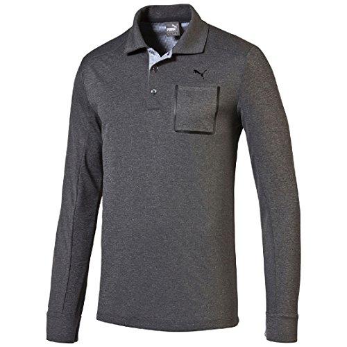 Puma Golf Lux Blend LS Polo Shirt Dry Cell Tech Herren Longsleeve - Puma Cell Dry