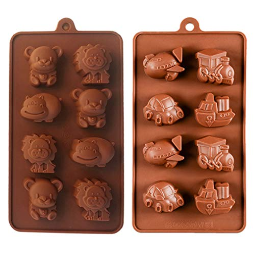 KBstore 2 Pack Moldes Bombones Silicona - Forma Animales