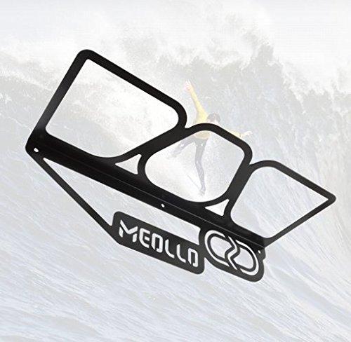 Support mural rangement pour planche de surf (100% Acier) (Blanc, One size)