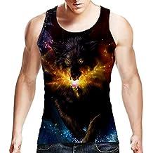 BFUSTYLE Summer Camiseta sin Mangas para Hombre 3D Impresa Casual Novedad Funny Camiseta con Capucha UQAJarP