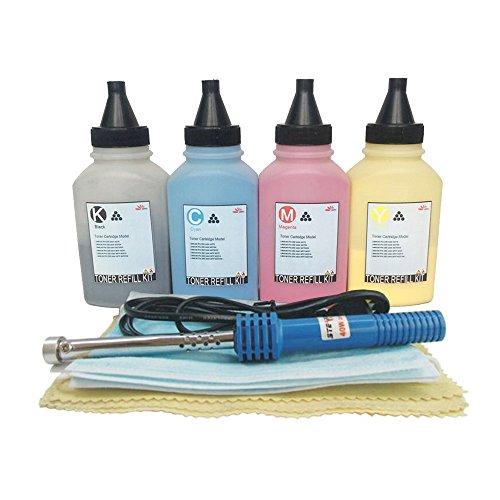 misee Toner Refill Kit für hp 201A cf400a cf401a cf402a cf403a Tintenpatrone für Verwendung mit HP Color Laserjet Pro MFP m277dw m252dw M277Pinter Tinte Kompatibel 4er Pack (Toner-refill-werkzeug)