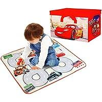 Preisvergleich für Disney Cars Kinder 2-in-1 Spielzeug & Spiele Aufbewahrungsbox Brust mit Spielmatte