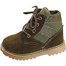 BBestseller Botas de Viento británicas Invierno de calientan Botines Niños Zapatos de Fondo Blando Sport Boots