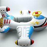 PVC-Wasser-Spielzeug-Kindersitz 1-5 Babys Schwimmen Ring/aufblasbares Cartoon Kinder allgemeine Doppel-Ballon-Flugzeug Jacht