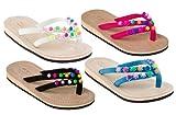 Amboss Mädchen Sandalen mit Echt-Leder und verschieden farbigen Perlen SK10-10 Gr.25-34